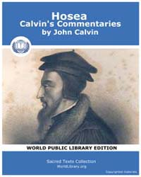 Hosea, Calvin's Commentaries by Calvin, John