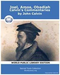 Joel, Amos, Obadiah, Calvin's Commentari... by Calvin, John