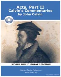 Acts, Part Ii, Calvin's Commentaries, Sc... by Calvin, John