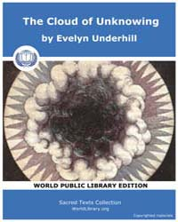 The Cloud of Unknowing, Score Chr Cou by Evelyn Underhill