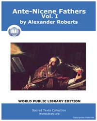 Ante-Nicene Fathers, Vol. I Volume 1 by Alexander Roberts