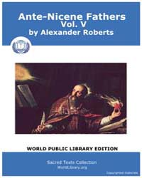 Ante-nicene Fathers, Volume V, Score Chr... by Alexander Roberts