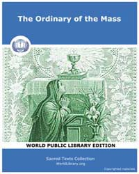 The Ordinary of the Mass, Score Chr Imas... by Sacred Texts