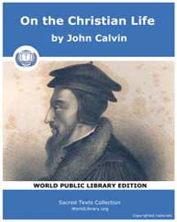 On the Christian Life, Score Chr Life by John Calvin