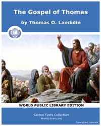 The Gospel of Thomas by O. Lambdin, Thomas