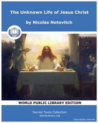 The Unknown Life of Jesus Christ, Score ... by Notovitch, Nicolas
