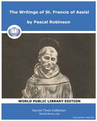 The Writings of St. Francis of Assisi by Robinson, Pascal