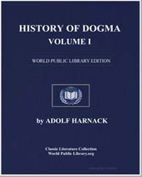 History of Dogma-Volume I by Harnack, Adolf