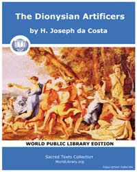 The Dionysian Artificers by Costa, H. Joseph da