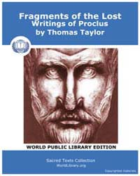 Fragments of the Lost Writings of Proclu... by Taylor, Thomas