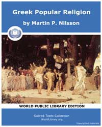 Greek Popular Relgion, Score Gpr by Nilsson, Martin P.