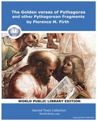 The Golden Verses of Pythagoras and Othe... by Florence M. Firth