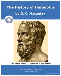 The History of Herodotus by MacAulay, G. C.