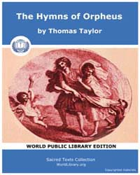The Hymns of Orpheus by Taylor, Thomas
