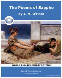 The Poems of Sappho by O'Hara, J. M.
