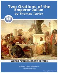 Two Orations of the Emperor Julian, Scor... by Taylor, Thomas