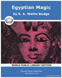 Egyptian Magic by Wallis Budge, E. A.