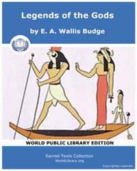 Legends of the Gods, Score Egy Leg by Budge, E. A. Wallis