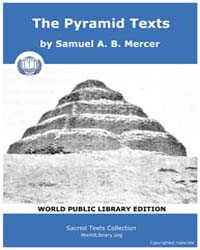 The Pyramid Texts, Score Egy Pyt by Mercer, Samuel A. B.