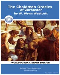 The Chaldæan Oracles of Zoroaster by Westcott, W. Wynn