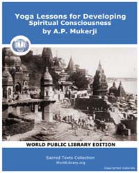 Yoga Lessons for Developing Spiritual Co... by Mukerji, A. P.