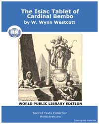 The Isiac Tablet of Cardinal Bembo, Scor... by Westcott, W. Wynn