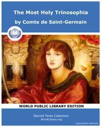 The Most Holy Trinosophia by Saint-Germain, Comte de