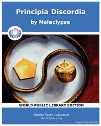 Principia Discordia, Score Eso Pridisc by Malaclypse