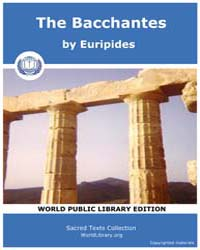 The Bacchantes, Score Eurip Bacchan by Euripides