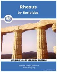 Rhesus, Score Eurip Rhesus by Euripides