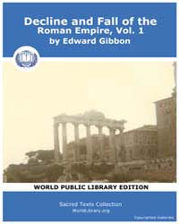 Decline and Fall of the Roman Empire, Vo... Volume 1 by Gibbon, Edward
