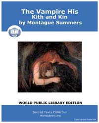 The Vampire His Kith and Kin, Score Goth... by Summers, Montague