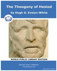 The Theogony of Hesiod, Score Hesiod The... by Evelyn-white, Hugh G.