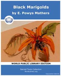 Black Marigolds by Mathers, E. Powys