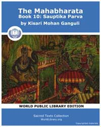 The Mahabharata Book 10 : Sauptika Parva... by Ganguli, Kisari Mohan