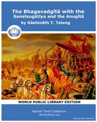 The Bhagavadgîtâ with the Sanatsugâtîya ... Volume Vol. 8 by Telang, Kâshinâth T.