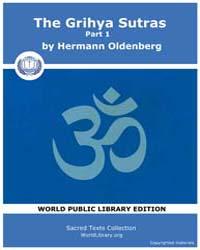 Grihya Sutras, Part 1 by Oldenberg, Hermann