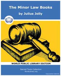 The Minor Law Books by Jolly, Julius