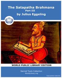 The Satapatha Brahmana, Part Iii, Score ... by Eggeling, Julius
