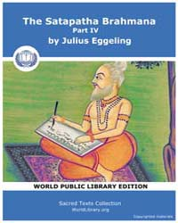The Satapatha Brahmana, Part Iv, Score H... by Eggeling, Julius