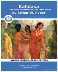 Kalidasa: Translations of Shakuntala, an... by Ryder, Arthur W.