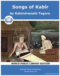 Songs of Kabîr by Tagore, Rabindranath