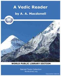 A Vedic Reader by MacDonell, A. A.