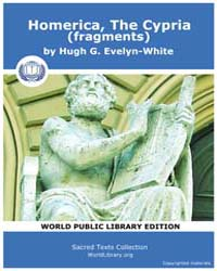 Homerica, the Cypria Fragments by Evelyn-white, Hugh G.