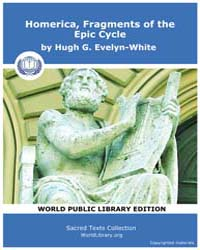 Homerica, Fragments of the Epic Cycle by Evelyn-white, Hugh G.
