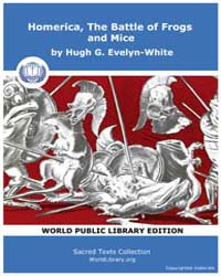 Homerica, the Battle of Frogs and Mice by Evelyn-white, Hugh G.