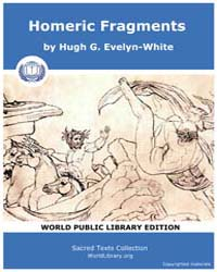 Homeric Fragments by Evelyn-White, Hugh G.