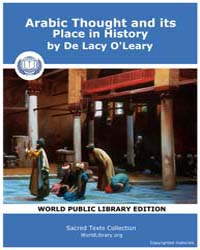 Arabic Thought and its Place in History by O'Leary, De Lacy