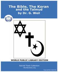 The Bible, The Koran, and the Talmud by Weil, Dr. G.