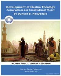 Development of Muslim Theology Jurisprud... by MacDonald, Duncan B.